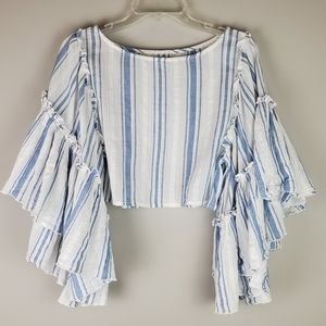 Kimchi Blue Bell Sleeve Crop Top